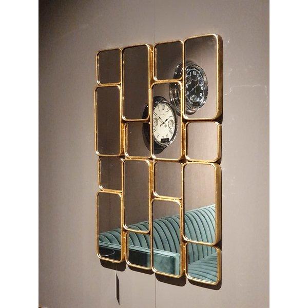 Richmond Interiors  Spiegel Birche met 16 spiegels (Goud)