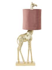 Light & Living Tafellamp 20x28x68 cm GIRAFFE goud+velvet oud roze