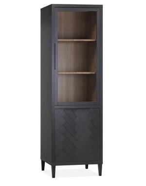 Maxfurn Vitrinekast Gamma Old Piano - 1 glazen deur en 1 dichte deur