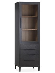 Maxfurn Vitrinekast Gamma Old Piano - 1 glazen deur 4 lades