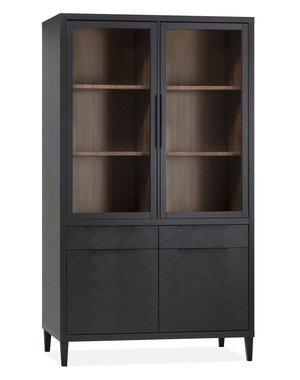 Maxfurn Vitrinekast Gamma Old Piano - 2 glazen deuren