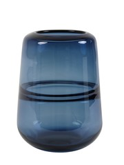Light & Living Vaas Ø16,5x22 cm ERMIDA glas blauw luster
