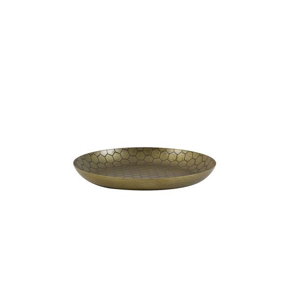 Light & Living Schaal Ø29,5x2 cm ALBINE antiek brons honingraat