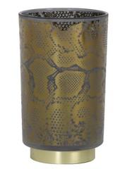 Light & Living Tafellamp LED SNAKE Glas Grijs, zwart groot