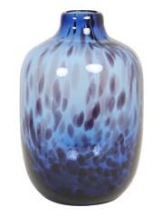 Light & Living Vaas Ø16x25 cm DAKAR Glas donker blauw-zwart