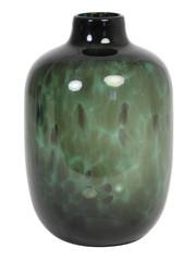 Light & Living Vaas Ø16x25 cm DAKAR glas donker groen-zwart