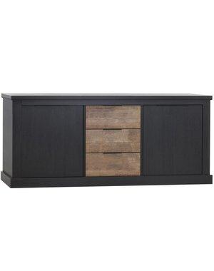 Maxfurn Jumbo dressoir 2 deurs/3 laden Lamulux Old Piano/teak