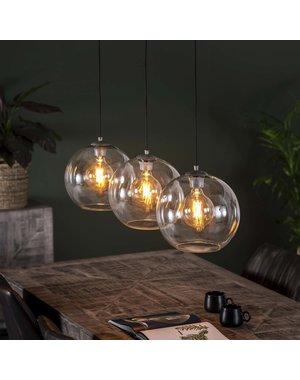 Hanglamp 3L Ø30 sphere helder glas