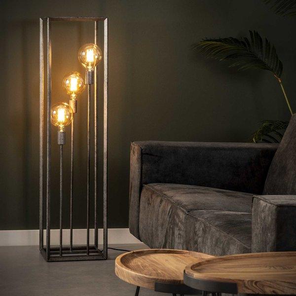 Vloerlamp 3L 45 graden buis