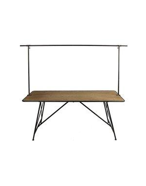 Countryfield Werktafel / Eettafel North Bay zwart 230 x 180 cm