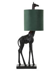 Light & Living Tafellamp 20x28x68 cm GIRAFFE zwart+velvet groen