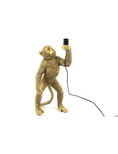 Countryfield Tafellamp aap E27 Cheeta goud