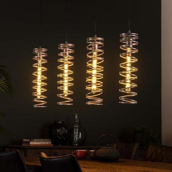 Hanglamp 4L spiral / Burned zilverkleurig