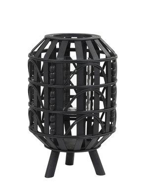 Light & Living Lantaarn Ø25x39 cm HERBA hout zwart