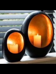 Richmond Interiors  Kaarsenhouder Raylan zwart met goud L
