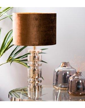 Light & Living Kap cilinder 30-30-21 cm GEMSTONE bruin