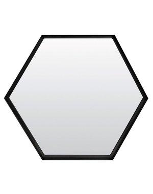 Light & Living Spiegel zeshoek STELVIO mat zwart in 3 maten
