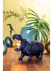 Light & Living Tafellamp 36x14x24 cm HIPPO L mat zwart
