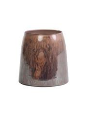 Light & Living Theelicht Ø11x11 cm MONLE paars bruin