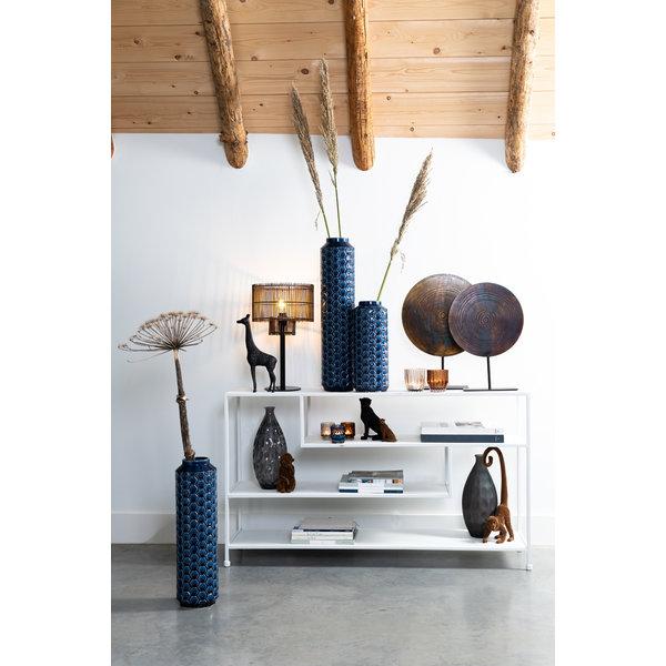 Light & Living Vaas deco Ø16,5x43 cm TAVERNE keramiek blauw
