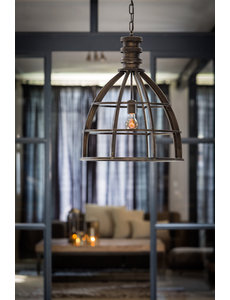 Light & Living Hanglamp Ø50x62,5 cm IVY antiek zwart