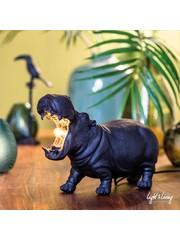 Light & Living Tafellamp 27x11x17,5 cm HIPPO S mat zwart