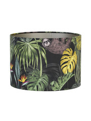 Light & Living Lampenkap Velours Rica Jungle Ø35x30