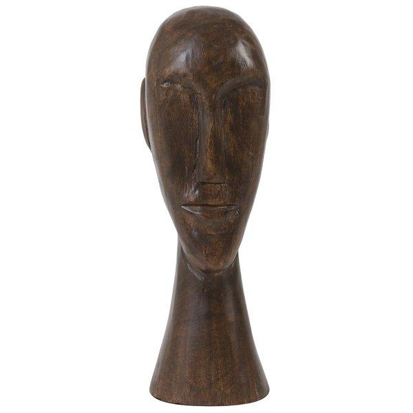 Light & Living Ornament 12x11x38 cm HEAD hout bruin