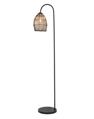 Light & Living Vloerlamp 34x30,5x172 cm MEYA mat zwart+goud
