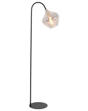 Light & Living Vloerlamp 28x45x160 cm RAKEL mat zwart+smoke