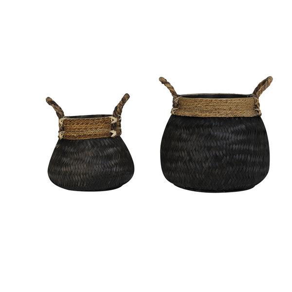 Light & Living Mand Set van 2  BONGAS  bamboe zwart