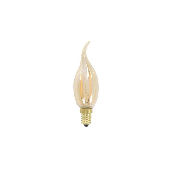 Light & Living Deco LED kaars Ø3,5x12 cm LIGHT 2W  amber E14
