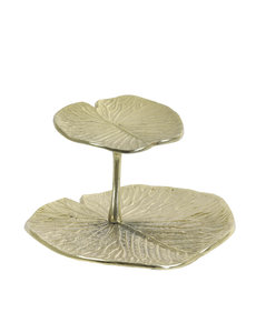 Light & Living Etagere LEAF goud - 2 of 3 laags