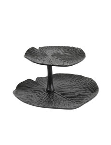 Light & Living Etagere LEAF zwart - 2 of 3 laags