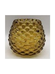 Light & Living Theelicht  Ø10x8,5 cm LEVAY glas amber
