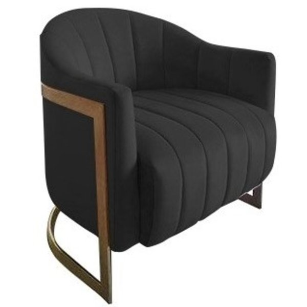 Richmond Interiors  Fauteuil Melody Antraciet velvet