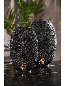 Light & Living Windlicht SINULA mat zwart - 2 maten