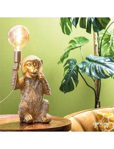 Light & Living Tafellamp aap goud - Diverse maten