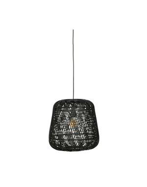 Moza hanglamp bamboe zwart - 36 of 70 cm