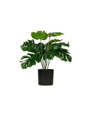 Monstera kunstplant groen 40 cm