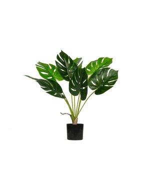 Woood Monstera kunstplant groen 70 cm