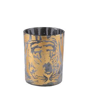 PTMD Theelicht Tigg Goud tijger patroon  - Diverse maten