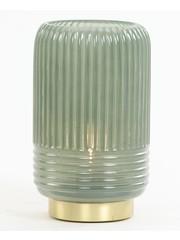 Light & Living Tafellamp LED Ø12x18,5 cm LIPA glas grijs  groen
