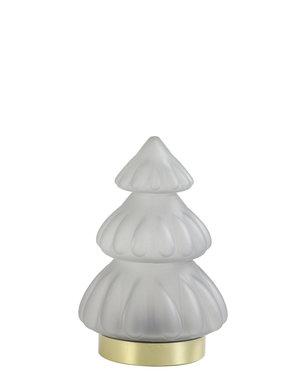 Light & Living Tafellamp LED Ø12x18 cm TREE glas mat licht grijs
