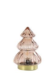 Light & Living Tafellamp LED Ø12x18 cm TREE glas oud roze