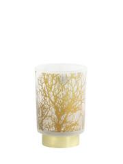 Light & Living Tafellamp LED Ø10x12,5 cm BRANCH glas wit-goud