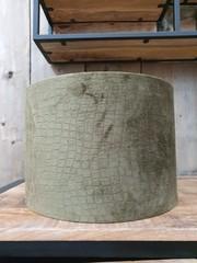 Light & Living Kap cilinder 30-30-21 cm SNAKE groen