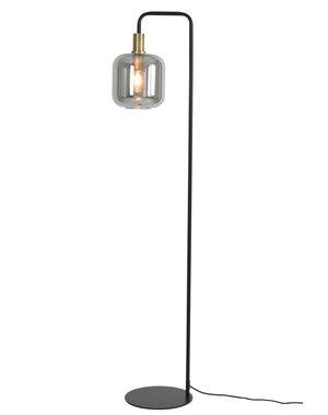 Light & Living Vloerlamp Ø28x155 cm LEKAR antiek brons+smoke glas