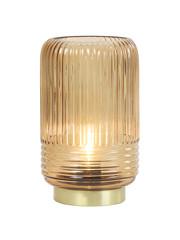 Light & Living Tafellamp LED Ø12x18,5 cm LIPA glas bruin