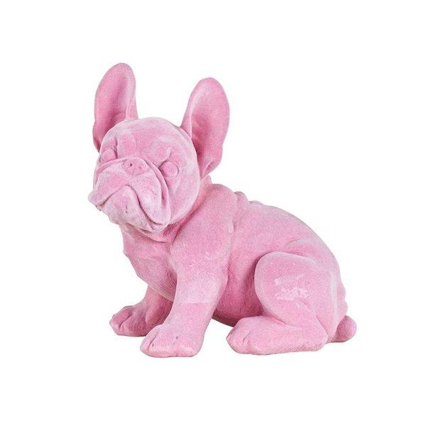 Richmond Interiors  Decoratief beeld hond Miro roze